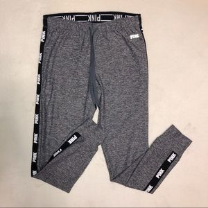 VS PINK Gray Ultimate Logo Joggers